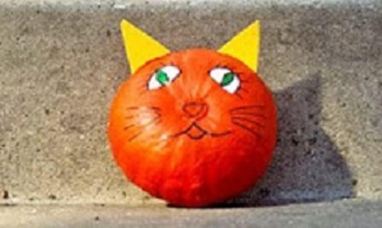 Поделка кот из тыквы