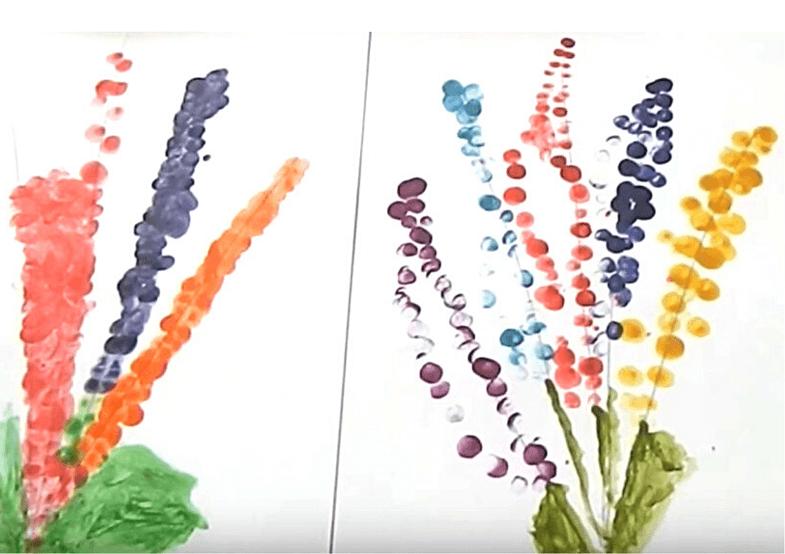 пальчиковое рисование гиацинт 3