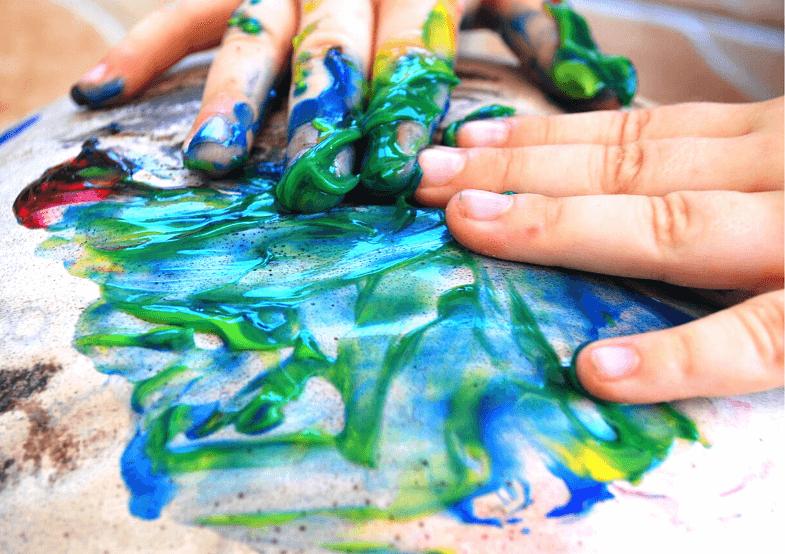 пальчиковое рисование красками