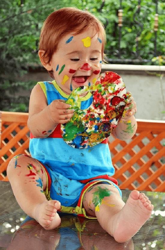 рисование пальчиками малыш