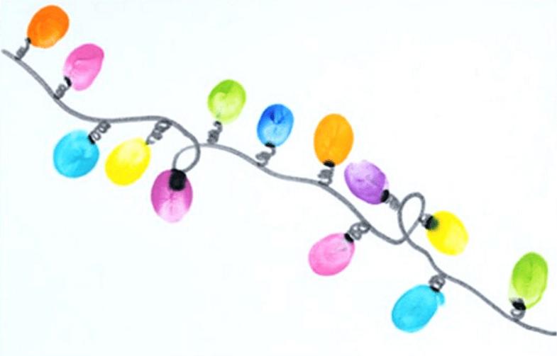 рисуем красками с шаблоном лампочки