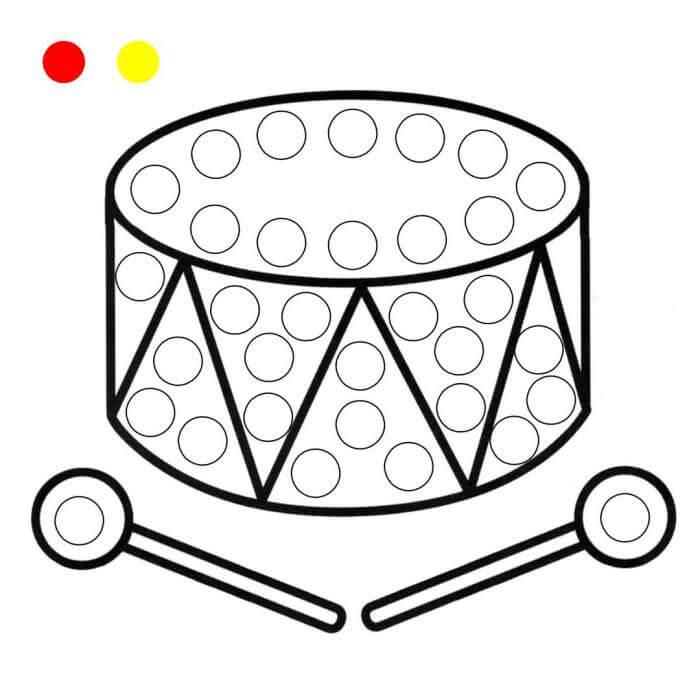 шаблон барабан пальчиками