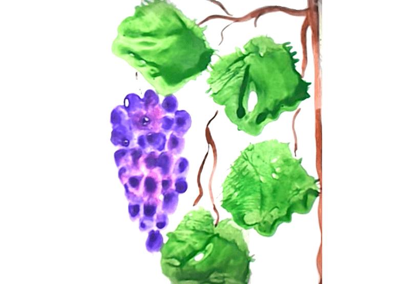 виноград пальчиковое рисование 3