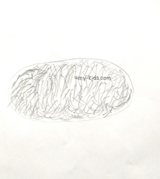 Внутреннее заполнение рисовать поэтапно карандашом для начинающих