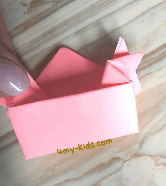 Как сделать прыгающую лягушку из бумаги шаг 16
