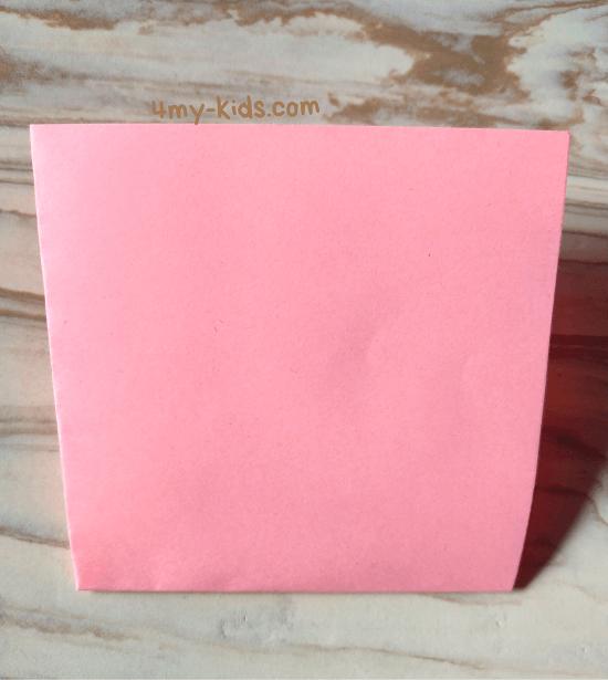 Лягушка из бумаги шаг 2