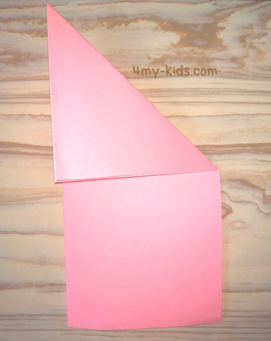 Лягушка из бумаги шаг 3