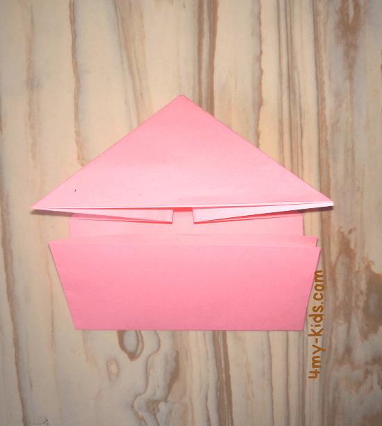 Лягушка из бумаги шаг 5.1