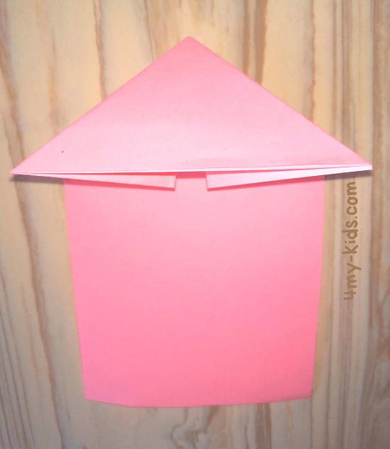Лягушка из бумаги шаг 5