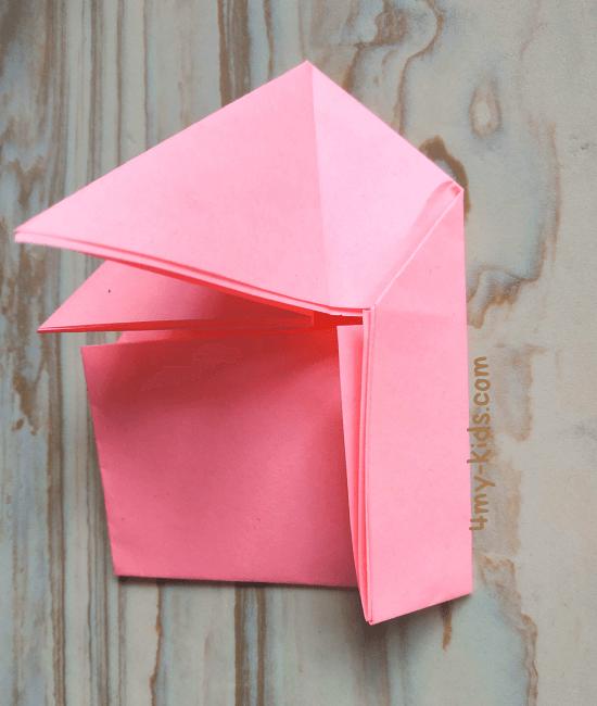 Лягушка из бумаги шаг 6