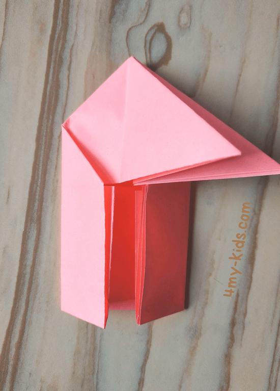 Лягушка из бумаги шаг 7