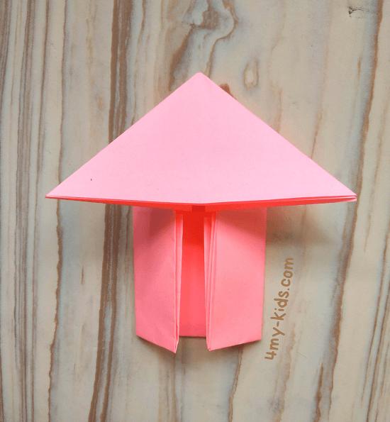 Лягушка из бумаги шаг 8