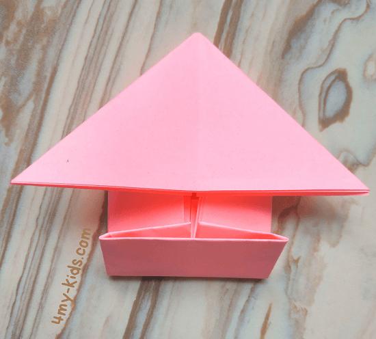 Лягушка из бумаги шаг 9